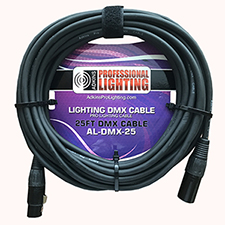 25 Foot Lighting DMX Cable - Adkins Professional Lighting