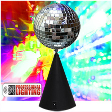 Adkins Pro Lighting 8 Inch Conical Stand Mirror Ball