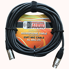 25 Foot Microphone Cable - Adkins Professional Audio