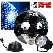 12 inch  Mirror Ball Party Kit