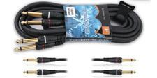 6' Cable with 1/4 inch plugs