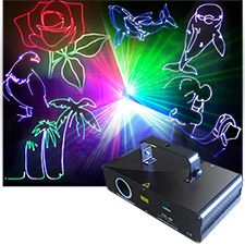 RGB Full Color Scanning Laser 300 mw