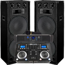 DEAL OF THE DAY!!! 4100 Watt DJ System - Connect your Laptop. iPod or play CD's!