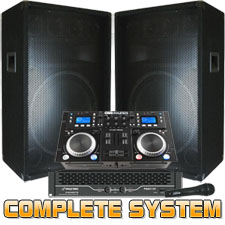 Everything you need to DJ with cd's or computer! 2100 Watts