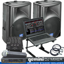 DJ System Package for the Computer DJ ready for live gigs.