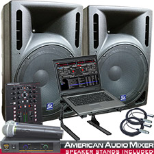 Virtual DJ Software and DJ System Package ready for you to Rock Out.