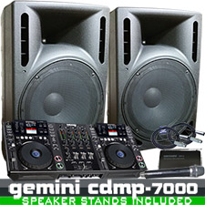 Gemini CDMP-7000 Complete DJ System Workstation Package