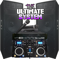 The Ultimate DJ System - Connect your Laptop. iPod or play CD's! 4100 Watts - Everything you need!