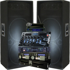 complete mega dj system everything you need 3000 watt. Black Bedroom Furniture Sets. Home Design Ideas