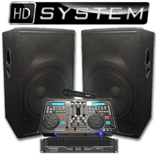 High Definition DJ System - 2100 watts - Perfect for Weddings or School dances!