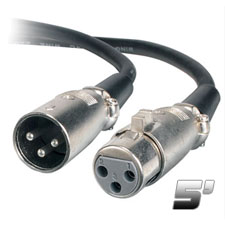 Chauvet 3 Pin 5' DMX Cable