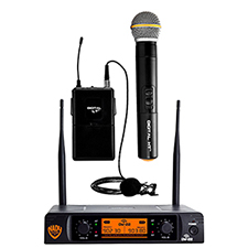 Nady DW-22 HT LT 24 bit Dual Digital Wireless 1 Handheld and 1 Lapel UHF Microphone System