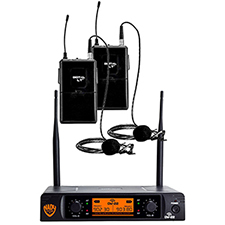 Nady DW-22 LT LT 24 bit Dual Digital Wireless Lapel UHF Microphone System