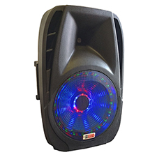 "Lighted Powered 12"" DJ Speaker - 600 Watts"