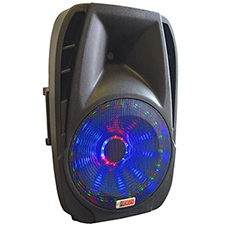 "Lighted Powered 15"" DJ Speaker - 800 Watts"