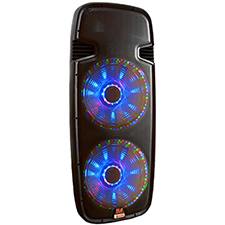 "Lighted Powered Dual 15"" DJ Speaker - 800 Watts"
