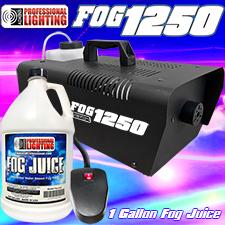 1250 Watt Fog Machine -1 Gallon Fog Juice and Remote