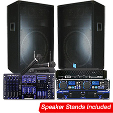 Karaoke / DJ System - High Power - 2200 Watts!