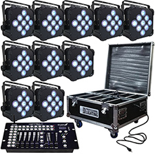 LED FlatPar - 7x10 Watt RGBW Par Light - Up-Lighting