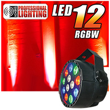 Adkins Pro Lighting LED 12 RGBW Up Light