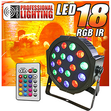 Adkins Pro Lighting LED 18 RGB Up Light