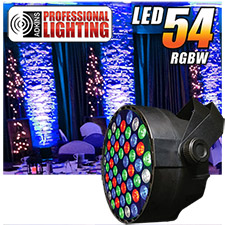 Adkins Pro Lighting LED 54 RGBW Up Light