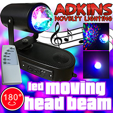 Adkins Novelty Lighting  LED Moving Head Beam