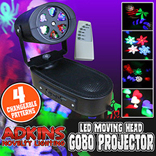 Adkins Novelty Lighting  Moving Head Gobo Projector