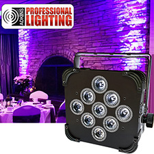 LED Battery Powered Wireless DMX - 9x5w RGBAW - Up Light