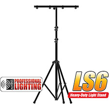 9' Black Tri-Pod Light Stand with cross bar