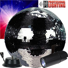 "20"" Mirror Ball Party Kit - LED Pinspot"
