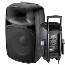Portable Sound System w/Wireless Mic - Battery Powered