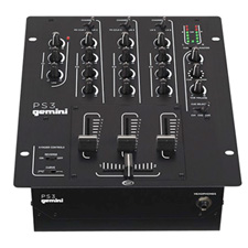 Gemini PS3 Professional 3-Channel DJ Mixer