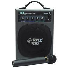 Battery Powered Portable PA System with Wireless Mic