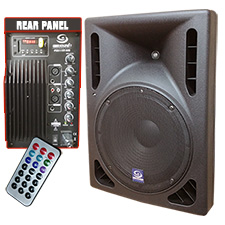 Gem Sound PXA115T-USB Powered Speaker USB/SD