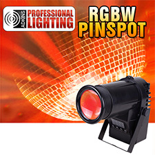Adkins Professional Lighting  LED Quad Color Pinspot - 10 Watt RGBW