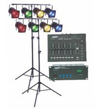 Stage Lighting Package W 8 Par38 2 Stands Amp Controller