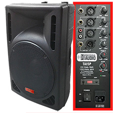 DJ Speaker - 15-inch 1200 Watt Bi-Amp 2-Way Powered HD Speaker System by Adkins Pro Audio