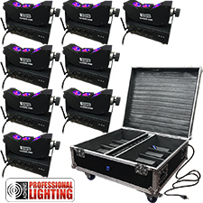 LED Tri-Beam Pak  - 8 Battery Up-Light w/Case- Adkins Professional Lighting