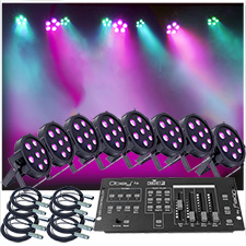 Up-Lighting System - 8 FlatPar Quad Color 7 x 10 watt RGBW