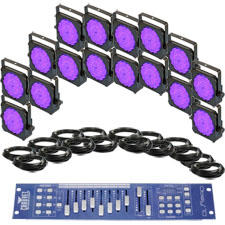 Large Venue Up-Lighting System - VEI LED PAR64 X16