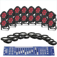 Large Venue Up-Lighting System - Chauvet Slim Par Tri 7 irc X16