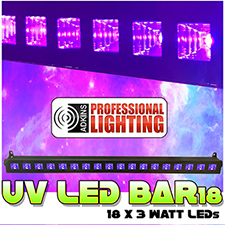 UV LED Black Light Bar 18