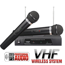 Dual VHF Wireless Microphone - Adkins Pro Audio