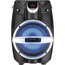 "Technical Pro 6.5"" Powered Bluetooth PA System with Mic & LED Woofer - Beach Black"