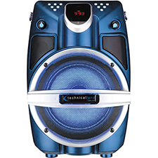 "Technical Pro 6.5"" Powered Bluetooth PA System with Mic & LED Woofer - Blue Shaker"