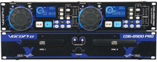VocoPro CDG-8900 PRO Professional Dual Tray CD/CD+G Player