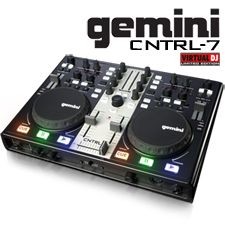 Gemini USB MIDI DJ Controller with Sound Card and Virtual DJ Software