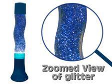 16 inch BLUE Groovy Stardust Glitter Lamp