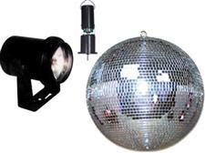8 Battery Powered Mirror Ball Package